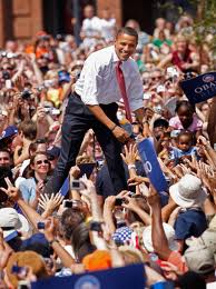 Obama Riding High in 2008, From ImagesAttr