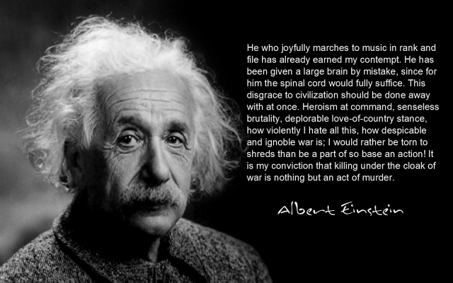 Einstein anti-war quote